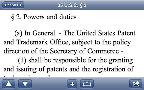 U.S. Code Screenshot