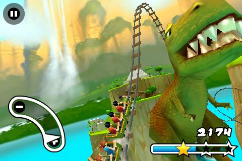 Jurassic 3D Rollercoaster Rush FREE Screenshot