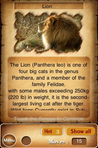 Bewilder-II Animals jigsaw puzzle game Screenshot