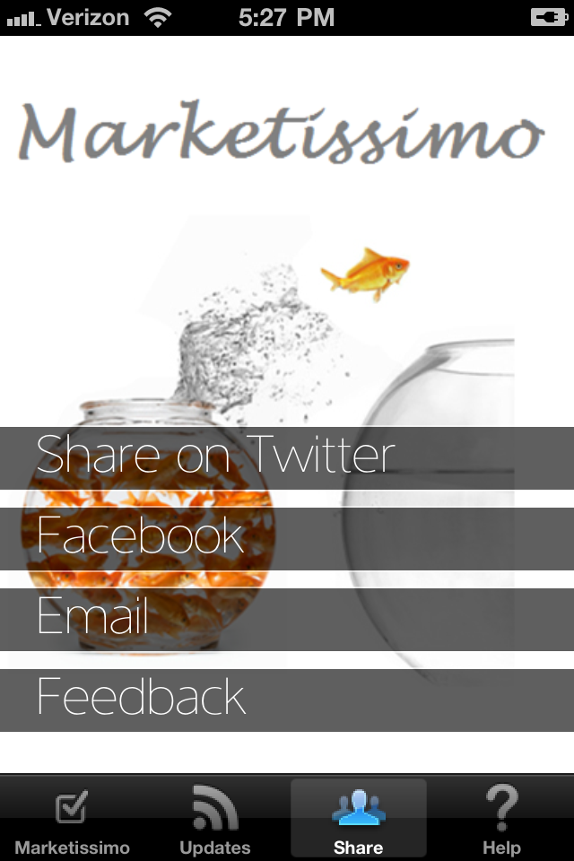 Marketissimo – Marketing ideas, tips & strategies to grow your business Screenshot