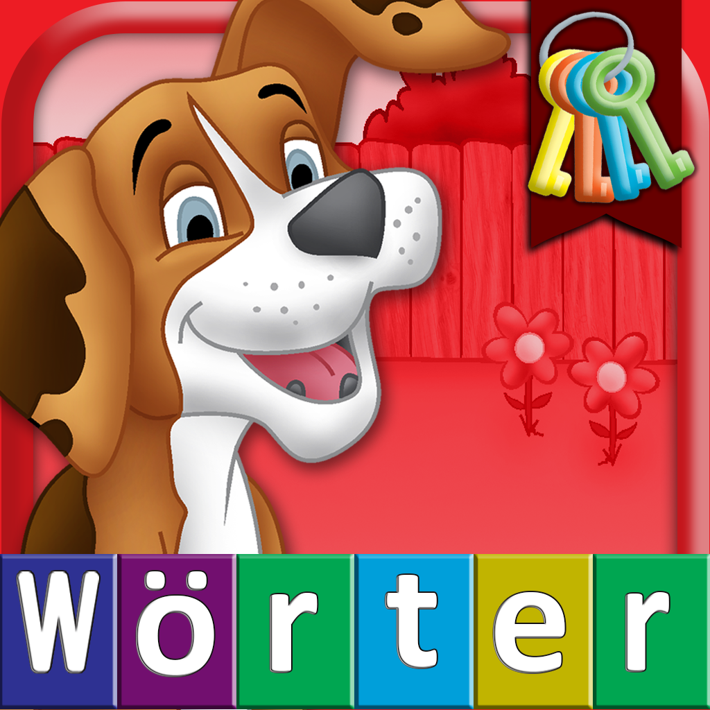German First Words with Phonics: Preschool Spelling & Learning Word Game for Children