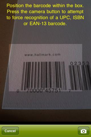 barcodescan pro Screenshot