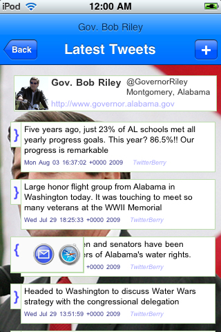 politicoTracker Twitter Edition screenshot 4