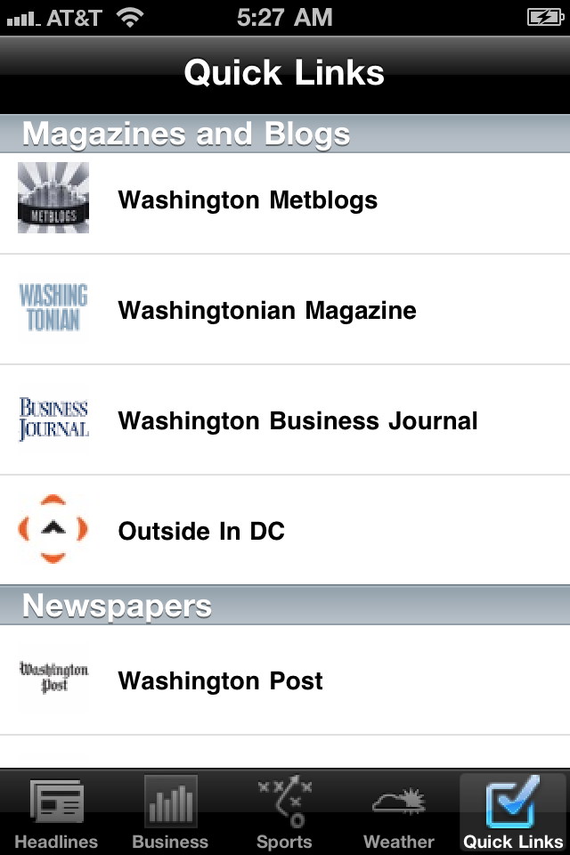 Washington D.C. Local News Free Screenshot