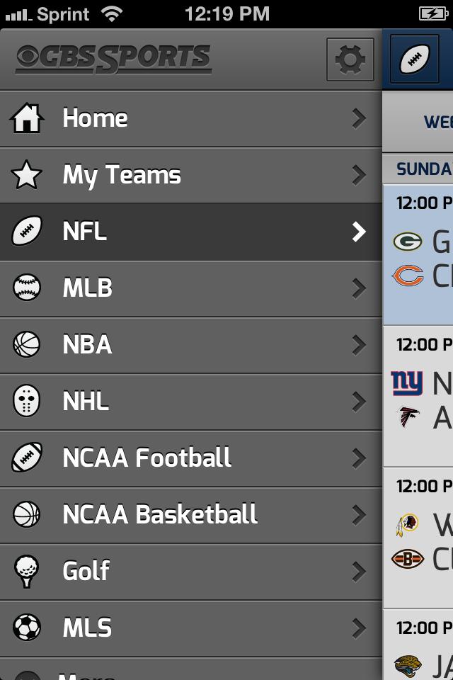CBS SportCaster screenshot 2
