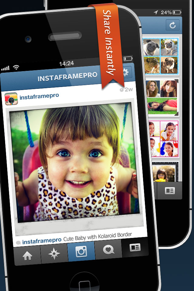 InstaFrame Pro – Magic Pic Frame and Photo Collage Border for Instagram Screenshot