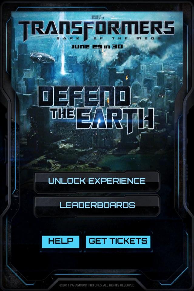 TRANSFORMERS 3: DEFEND THE EARTH screenshot #1