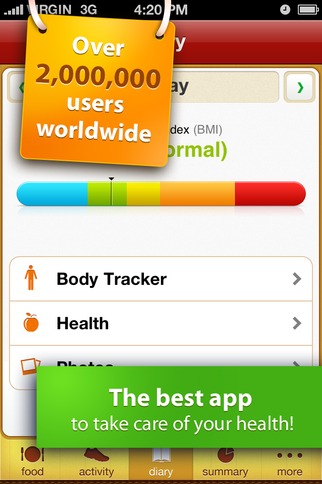Calorie Counter Free screenshot 1