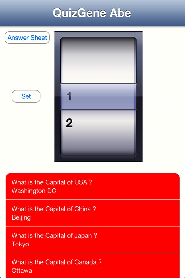 QuizGene Screenshot