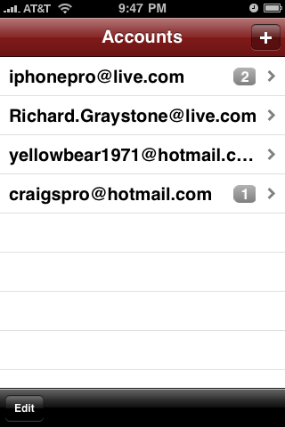 mailPro – Hotmail, MSN, and Windows Live Email Manager screenshot 2