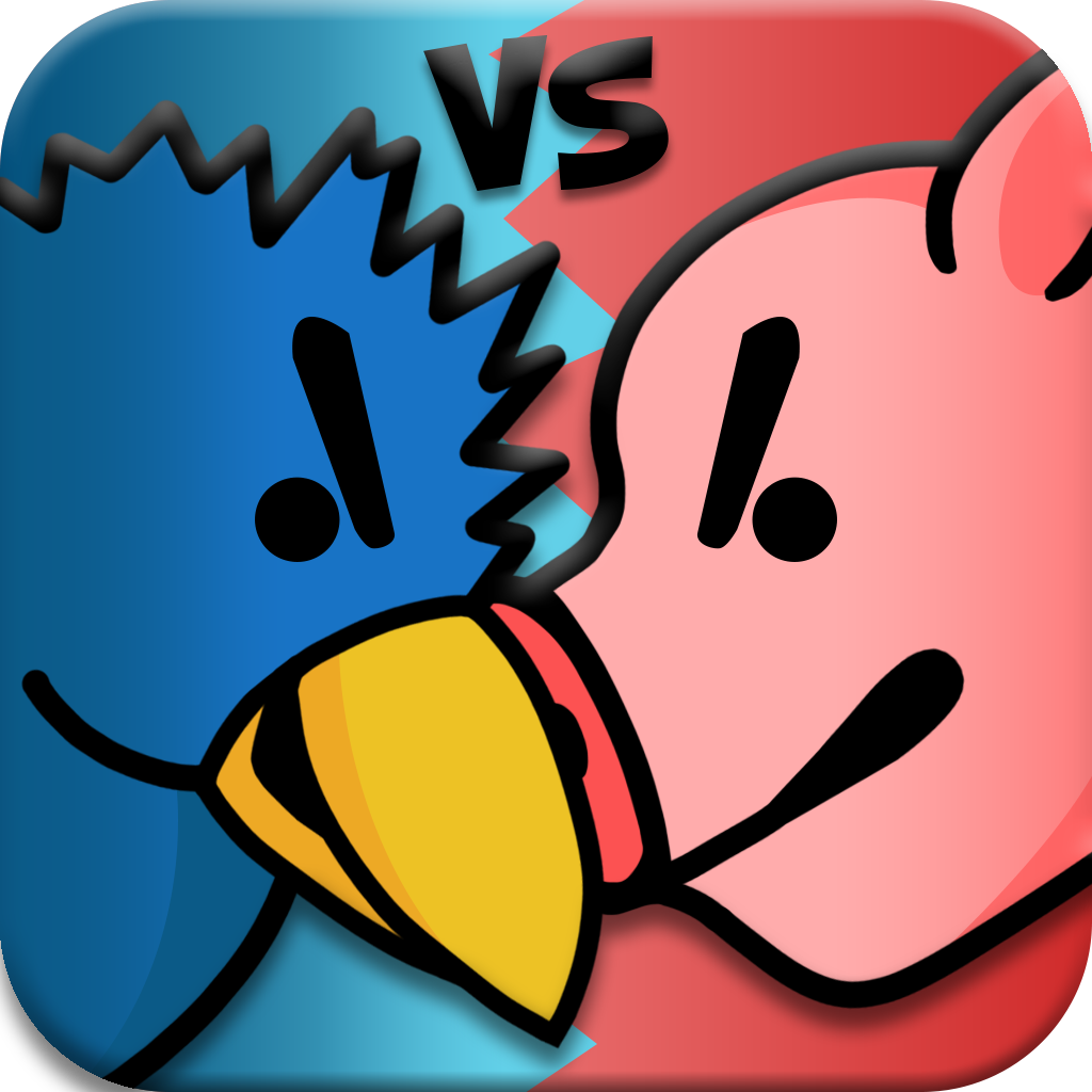 Attacking Birds vs Scared Piggies HD Free