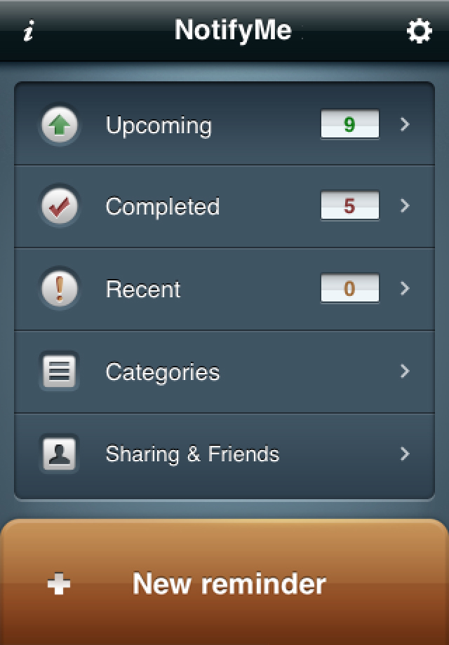 NotifyMe for iPhone screenshot 1