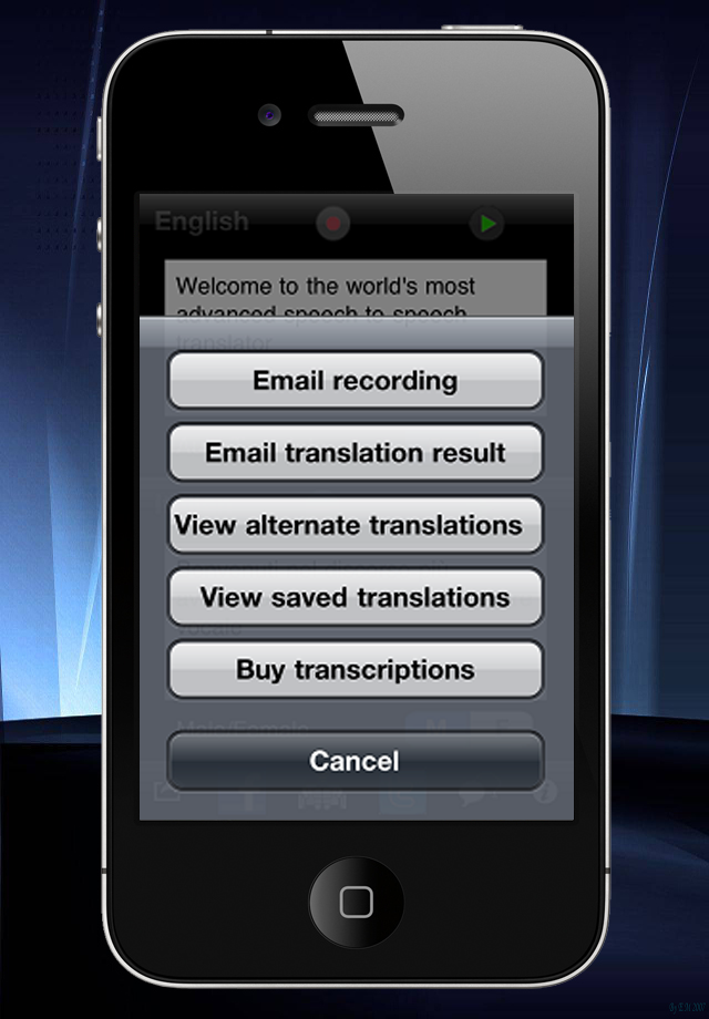 SpeechTrans Russian English Translator with Voice Recognition Powered by Nuance maker of Dragon Naturally Speaking screenshot #5