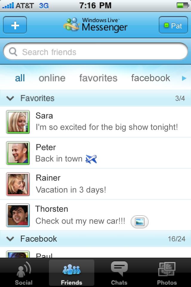 Windows Live Messenger screenshot 2