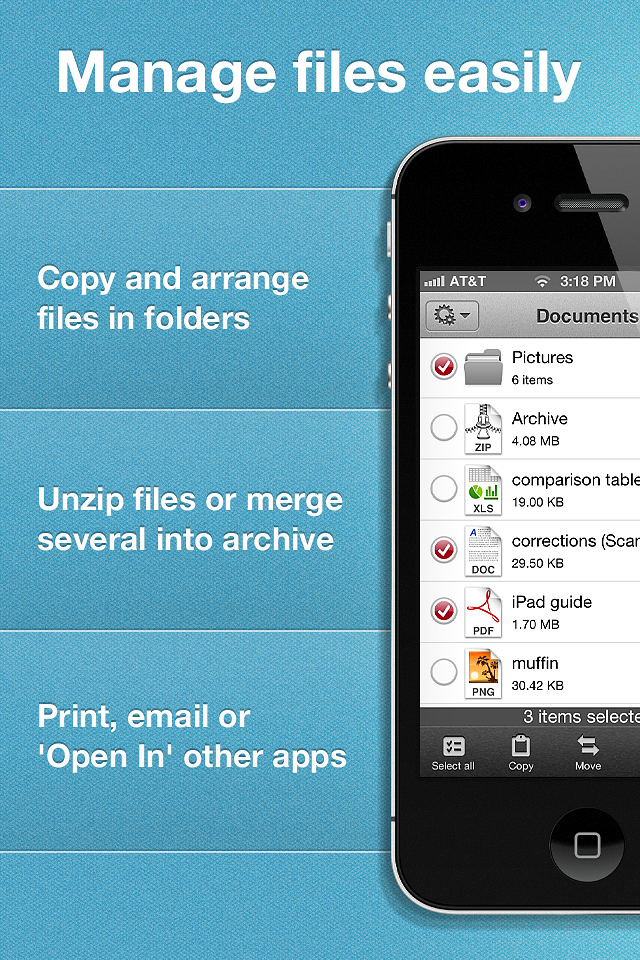 ReaddleDocs (documents/attachments viewer and file manager) screenshot #2