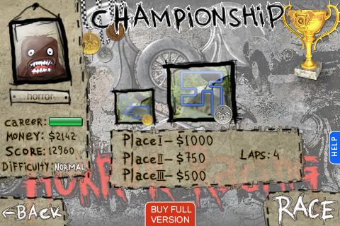 Horror Racing Lite screenshot 2