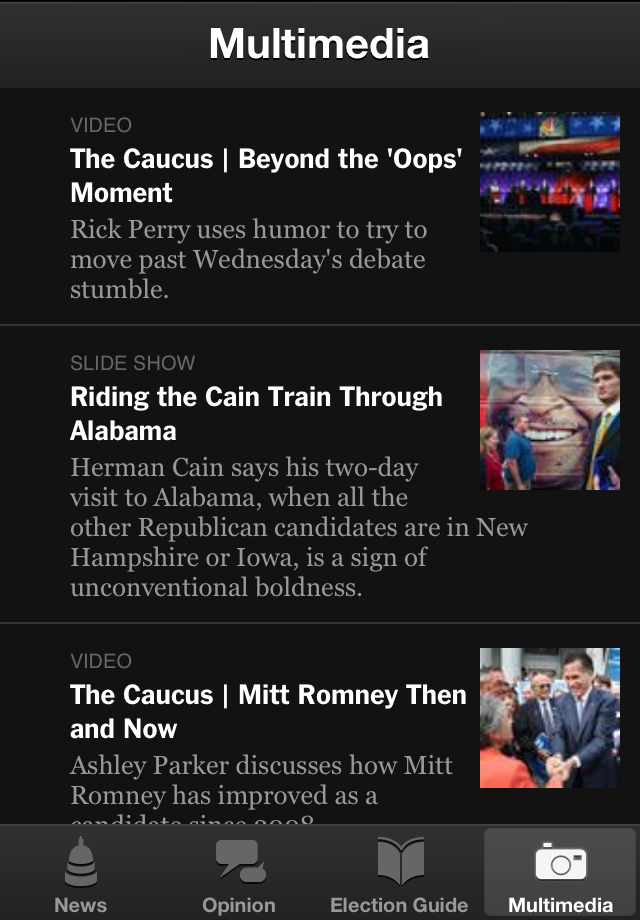 NYTimes Election 2012 screenshot 5