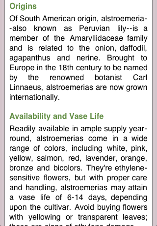 Flower Dictionary Screenshot