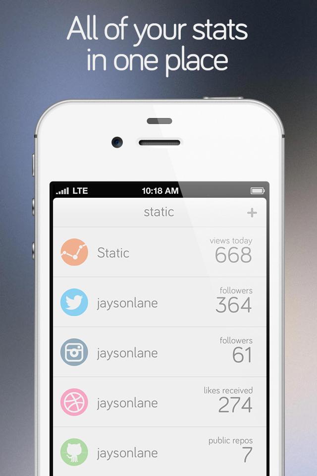 Static for iPhone screenshot 1
