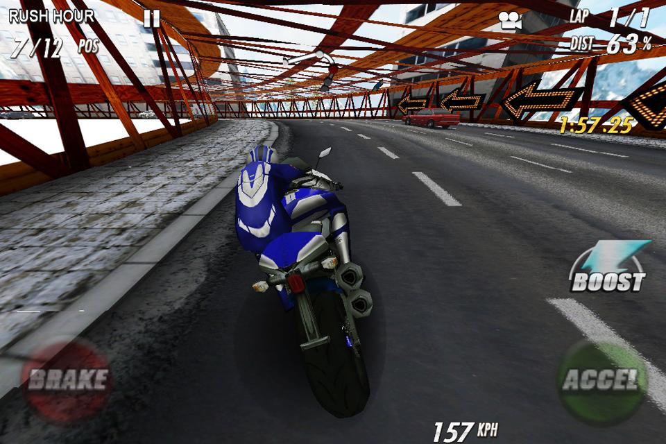 StreetBike: Full Blast Lite screenshot #2