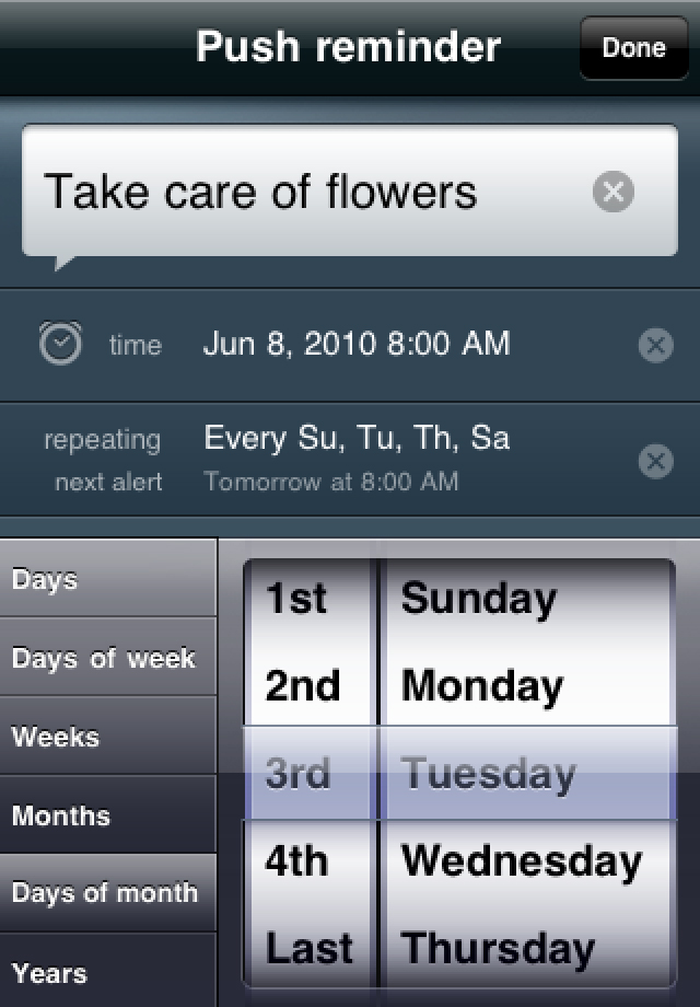 NotifyMe for iPhone screenshot 3