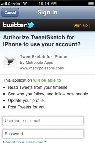 TweetSketch for Twitter Screenshot