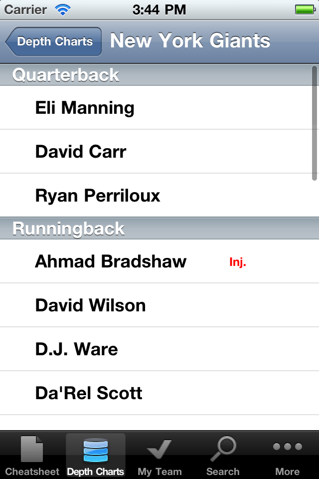 RotoWire Fantasy Football Draft Kit 2012 screenshot 5