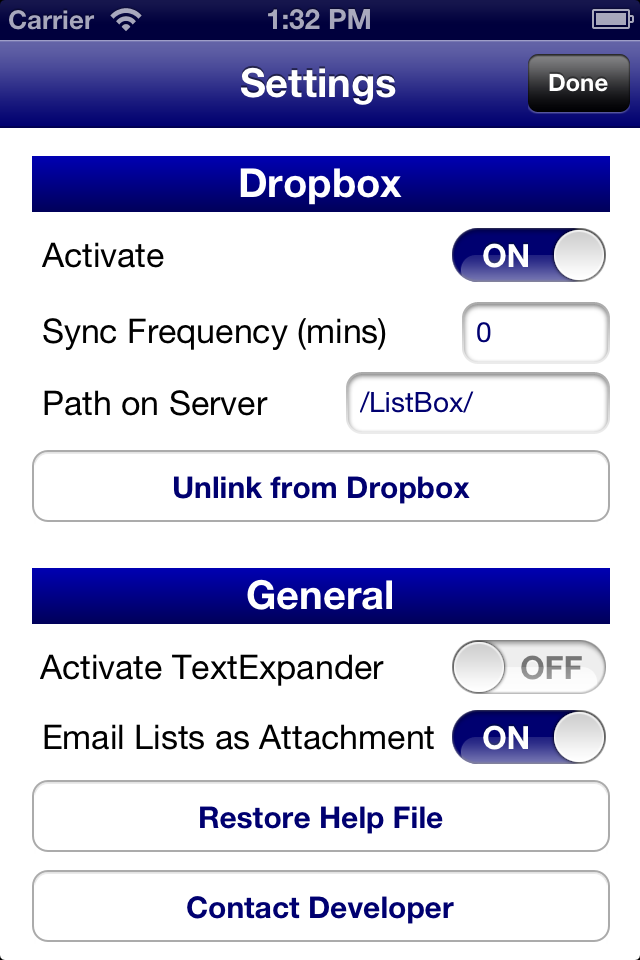ListBox Screenshot