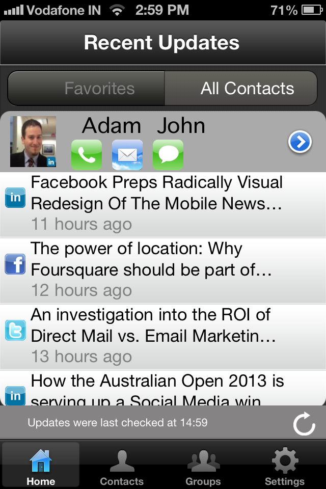 Social Book Screenshot
