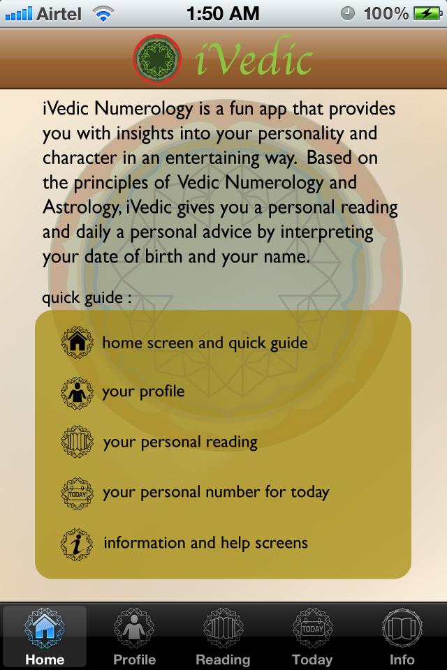 iVedic Numerology Screenshot