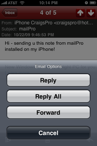 mailPro – Hotmail, MSN, and Windows Live Email Manager screenshot 5