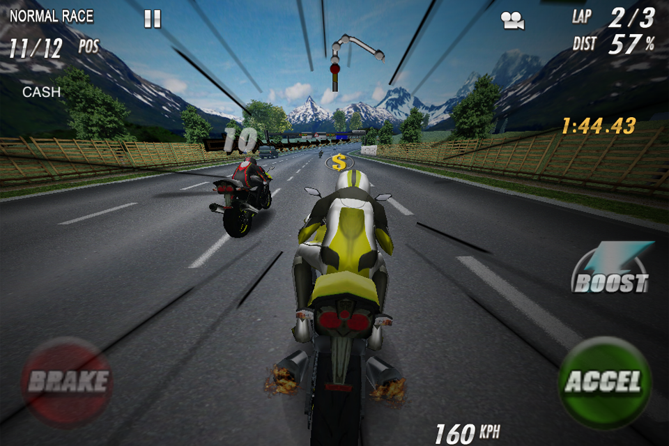 StreetBike: Full Blast Lite screenshot #1