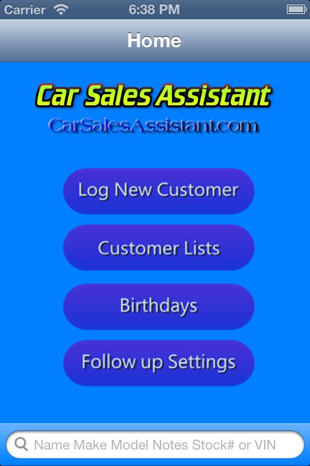 Car Sales Assistant Mobile