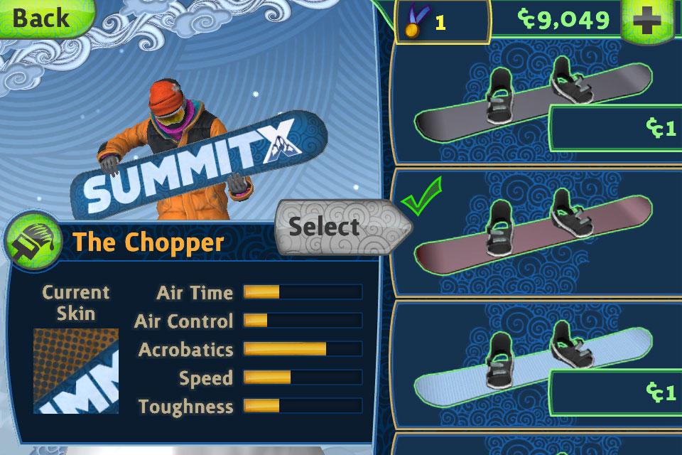 SummitX Snowboarding HD screenshot 3