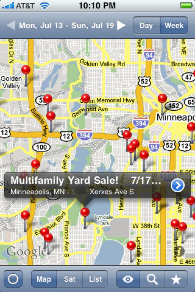 iGarageSale (garage sales locator) screenshot 1