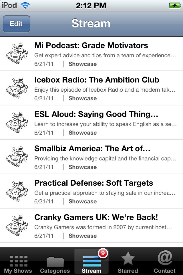 Podcast Box Screenshot