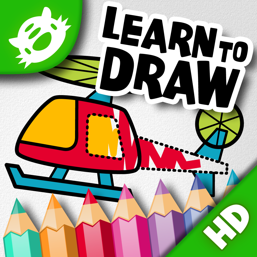 iLuv Drawing Vehicles HD - Kids learn how to draw cars, trucks, train, plane and more step by step