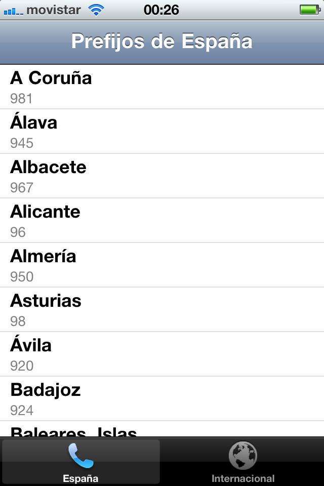 Prefijos de España screenshot #1