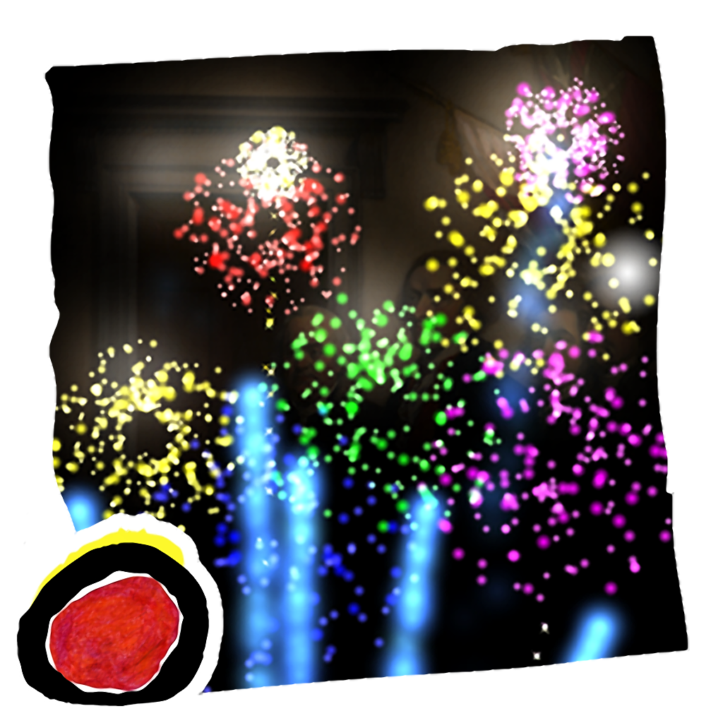 Celebrate 4th of July, Independence Day of United States, with sparkling fireworks (by Auryn Apps)