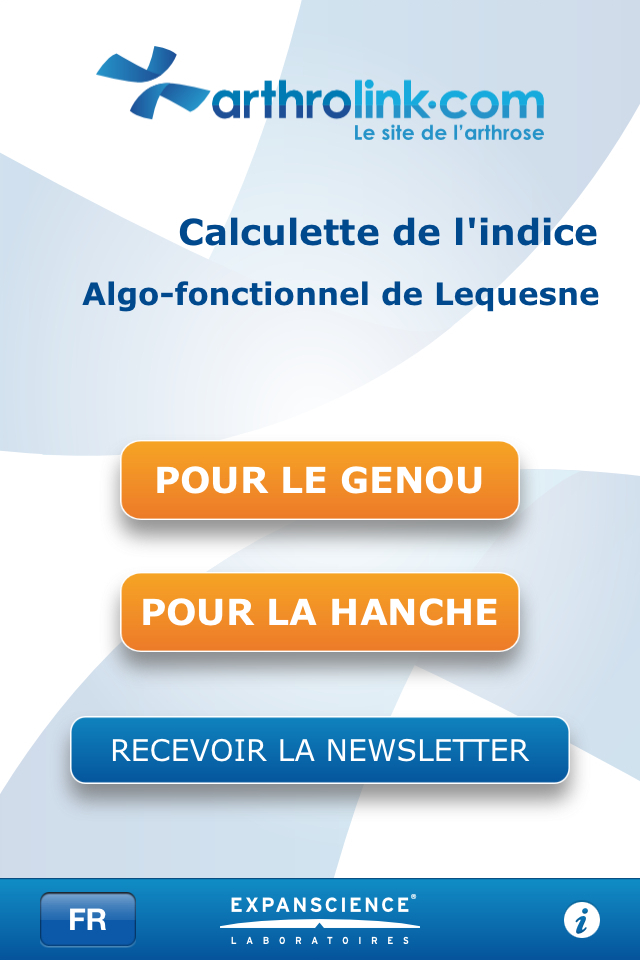 Lequesne Algofunctional Index Screenshot