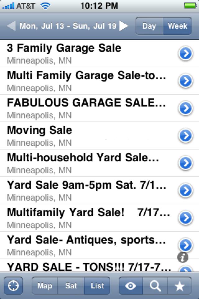 iGarageSale (garage sales locator) screenshot 3