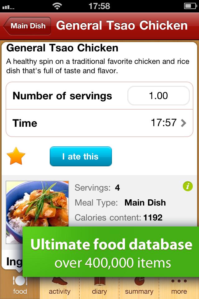 Calorie Counter Free screenshot 3