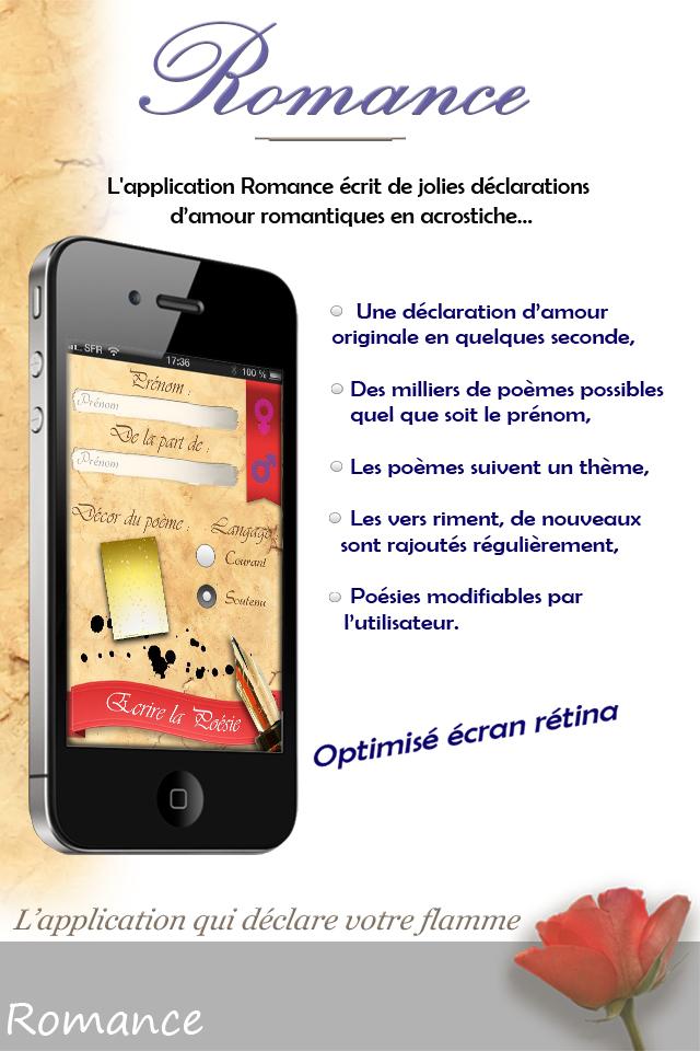 Romance Votre Romantique Déclaration Damour En Poésie