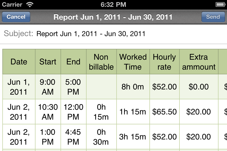SalaryBook – Timesheet – pay and time tracking Screenshot