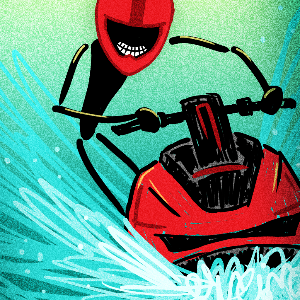A Stickman Wave Racer