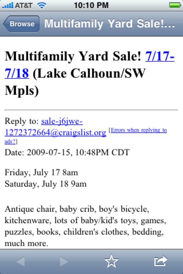 iGarageSale (garage sales locator) screenshot 4