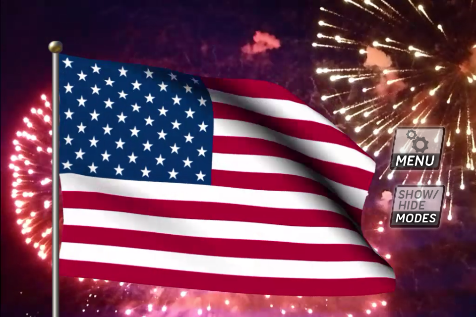 My Flag App US - The US animated flag   iPhone ...