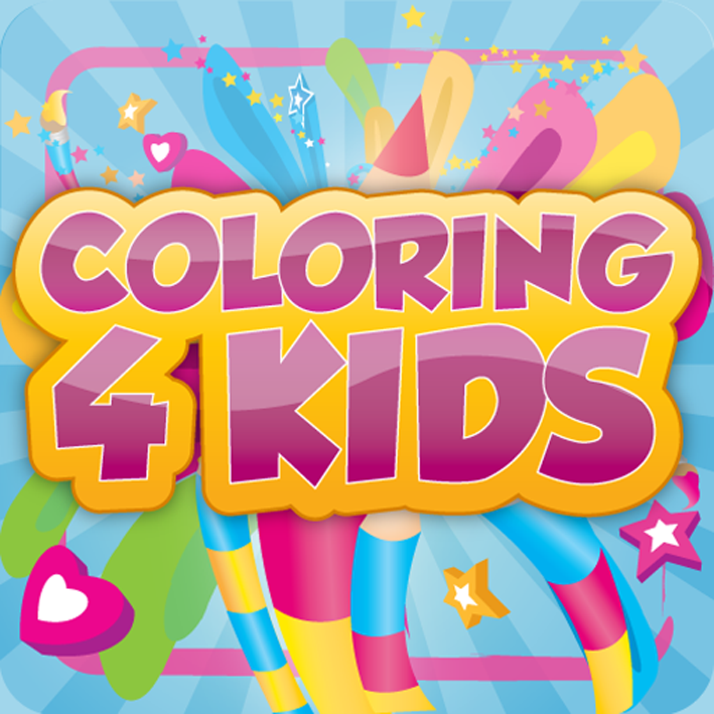 Coloring 4 Kids - Kids Coloring Book with Grading Feature, Voice Feedback, Stickers, and Picture Frames