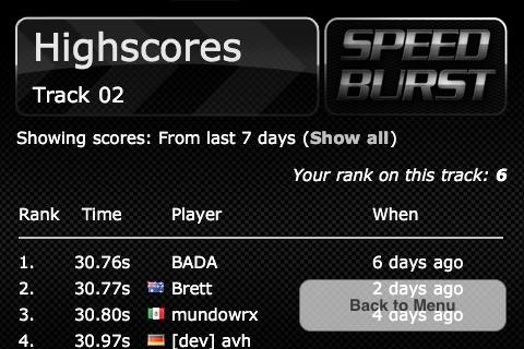 SpeedBurst screenshot 5