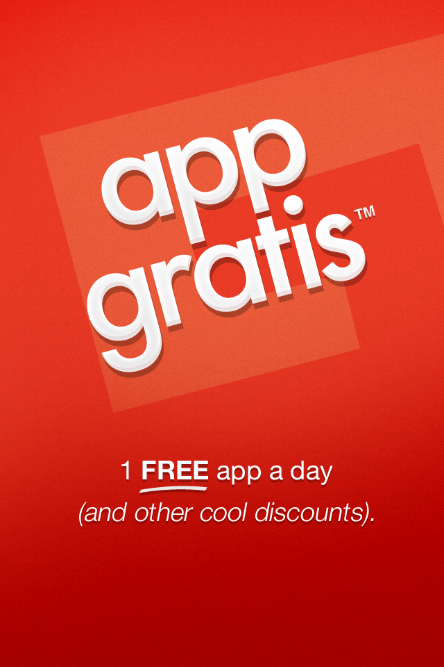AppGratis - 1 free app a day (and other cool discounts) screenshot 1